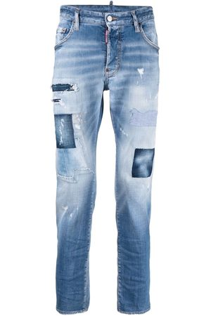 Dsquared2 Patchwork distressed-effect skinny jeans