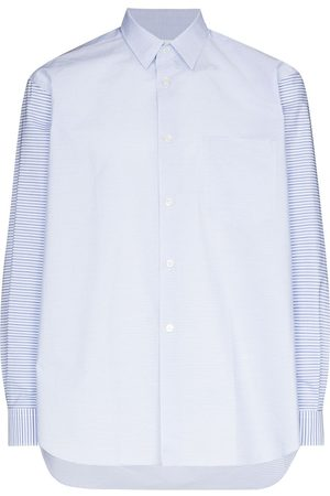 Comme des Garçons Men Long Sleeve - Panelled striped buttoned shirt