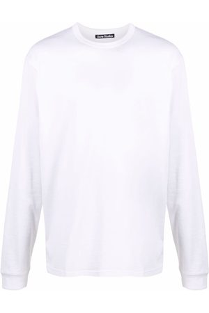 Acne Studios Long Sleeve - Face-patch long-sleeve T-shirt