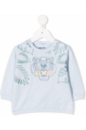 Kenzo Sweatshirts - Tiger logo-embroidered sweatshirt