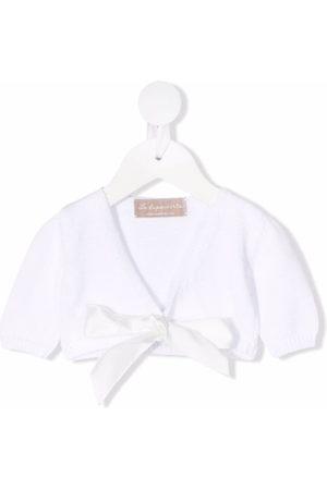 LA STUPENDERIA Cardigans - Cropped tied cardigan