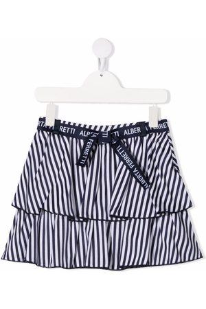 Alberta Ferretti Girls Skirts - Striped tiered skirt