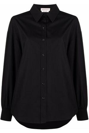 Alexander McQueen Women Long Sleeve - Button-up cotton shirt