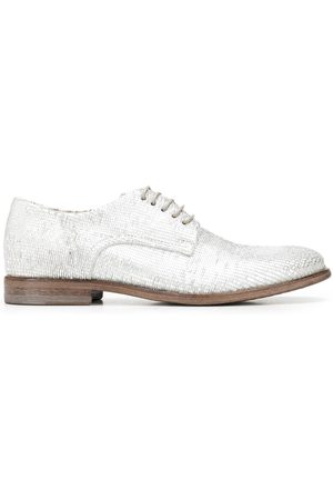 Moma Women Formal Shoes - Metallic-effect leather derby shoes