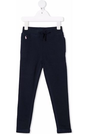 Ralph Lauren Girls Trousers - Polo Pony cotton track trousers