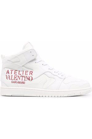 VALENTINO GARAVANI Logo-print high-top sneakers