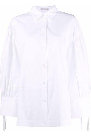 12 STOREEZ Women Long Sleeve - Tied-cuff shirt