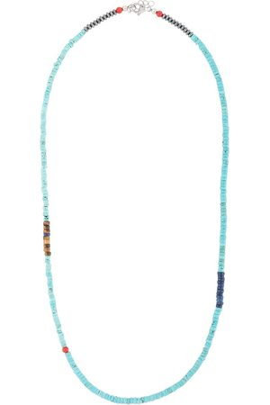 Nialaya Men Necklaces - Turquoise and tiger-eye necklace