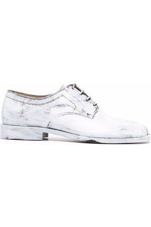 Maison Margiela Men Footwear - Tabi painted lace-up shoes