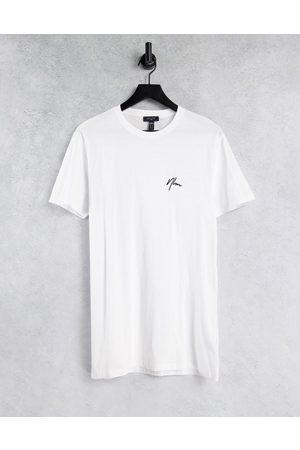 New Look Longline t-shirt with NLM embroidery in