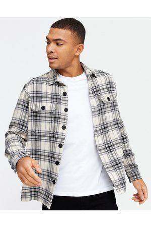 New Look Long sleeve check overshirt in