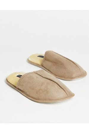 French Connection Mule slippers in tan