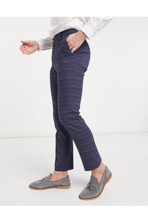French Connection Slim fit marine check suit trousers