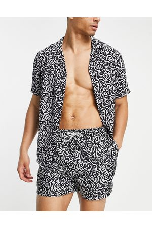 New Look Animal print short sleeve shirt co-ord in