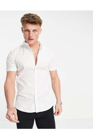 New Look Short sleeve muscle fit shirt in