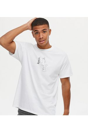 New Look Oversized sketch print t-shirt in