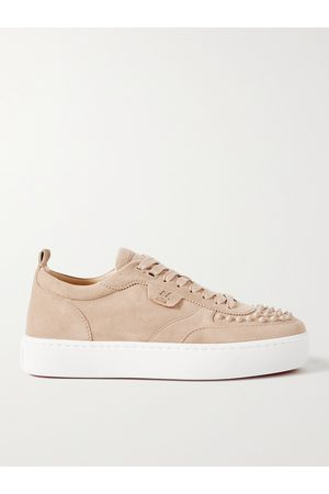 Christian Louboutin Men Sneakers - Happyrui Spiked Suede Sneakers