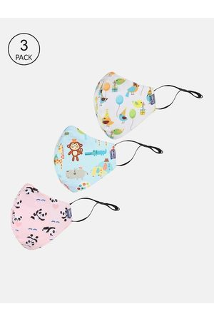 chicco Kids 6-Ply Set Of 3 Printed Reusable Outdoor Face Masks