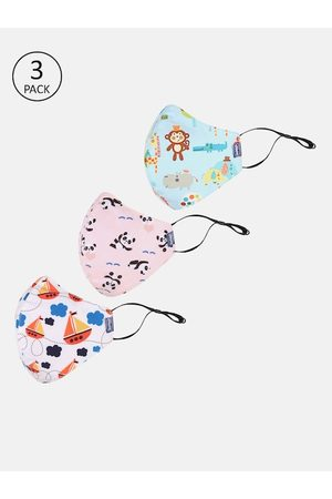 chicco Kids 6-Ply Pack Of 3 Reusable Cloth Masks