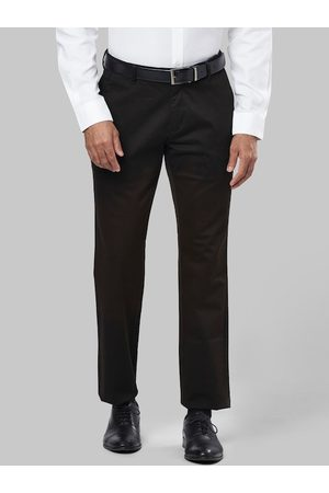 Raymond Weil Men Brown Slim Fit Solid Formal Trousers