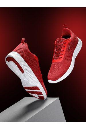 HRX Women Red Woven Design Front Runner Shoes