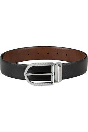 Da Milano Men Black & Brown Textured Belt
