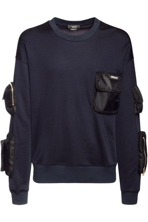 VERSACE Men Jumpers - Cotton Sweater W/military Pockets