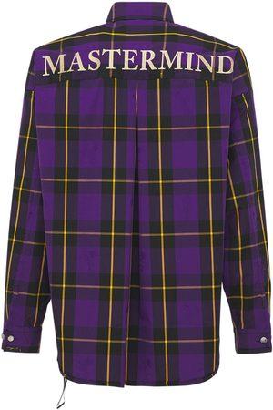 MASTERMIND Oversize Reversible Plaid Cotton Shirt