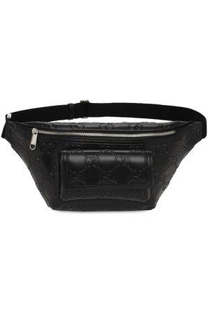 Gucci Men Belts - Gg Embossed Leather Belt Bag