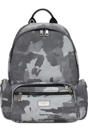 Dolce & Gabbana Men Rucksacks - Logo Plaque Camo Nylon Backpack