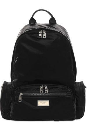 Dolce & Gabbana Men Rucksacks - Logo Plaque Nylon Backpack