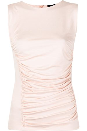 Emporio Armani Women Tank Tops - Ruched sleeveless top