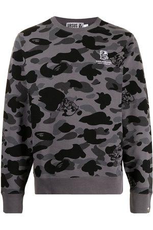A Bathing Ape Men Sweatshirts - Camouflage-print cotton sweatshirt