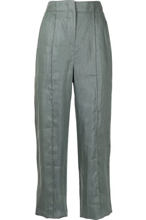 Emporio Armani Women Trousers - High-waisted linen trousers
