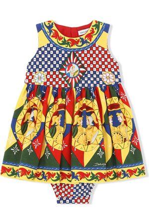 Dolce & Gabbana Baby Printed Dresses - Geometric-print dress