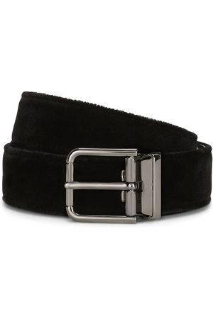 Dolce & Gabbana Men Belts - Debossed-logo buckle belt