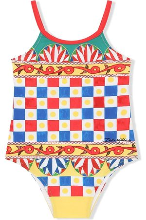 Dolce & Gabbana Baby Swimsuits - Geometric-print swimsuit