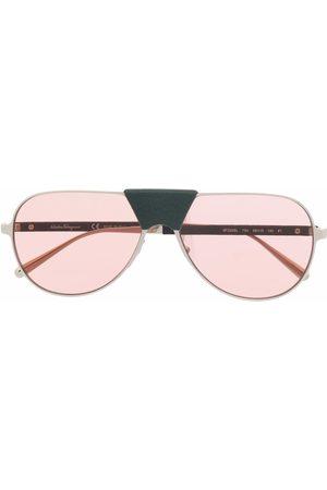 Salvatore Ferragamo Aviator-frame sunglasses
