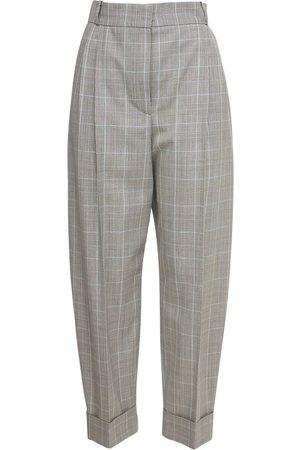 Alexander McQueen Women Formal Trousers - Cropped Wool Prince Of Wales Pants
