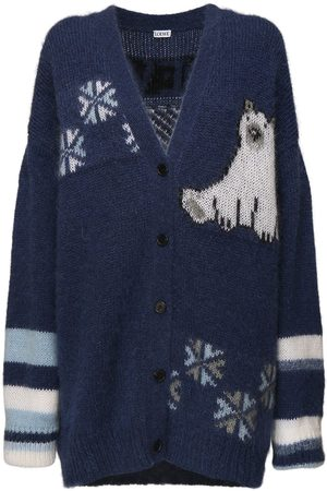 Loewe Oversize Knit Mohair Blend Cardigan