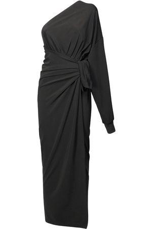 BALENCIAGA Viscose Jersey One-shoulder Wrap Dress