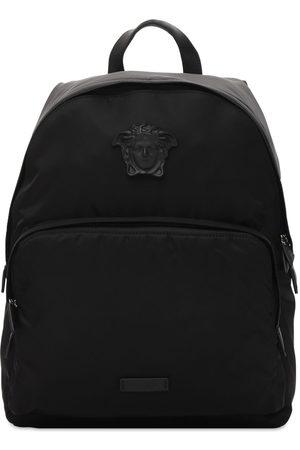 VERSACE Men Rucksacks - Nylon Backpack W/medusa Hardware