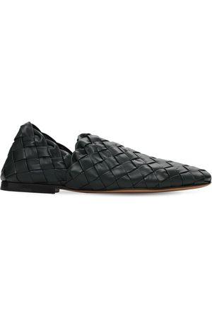Bottega Veneta Men Loafers - Intrecciato Leather Loafers