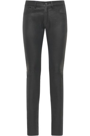 GIORGIO BRATO Leather Biker Pants