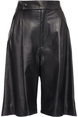 NYNNE Women Bermudas - Maud Leather Bermuda Shorts