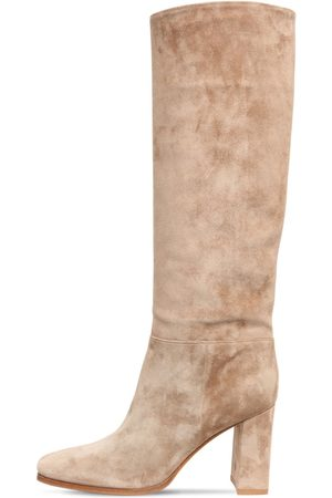 Gianvito Rossi Women High Leg Boots - 85mm Suede Tall Boots