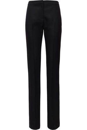 Alexander McQueen Wool Blend Straight Leg Pants W/ Bands