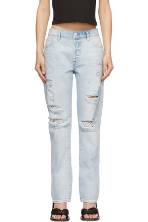 Frame Blue Distressed 'Le Slouch' Jeans