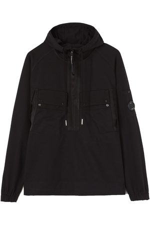 CP Company C.P. Company Heavy Jersey Mixed Garment Dyed Lens Hoodie