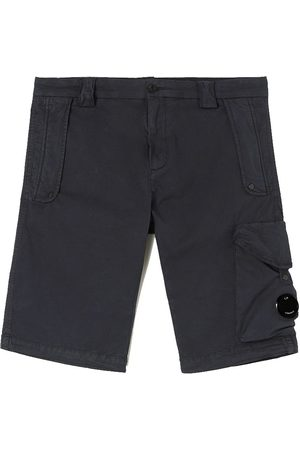 CP Company C.P. Company Gabardine Garment Dyed Shorts Total Eclipse